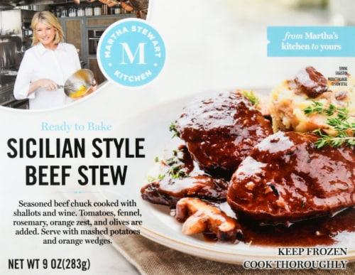 Martha Stewart Kitchen Sicilian Style Beef Stew Frozen Meal Perspective: front