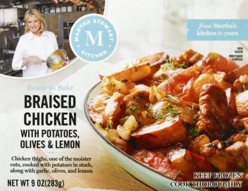 Martha Stewart Kitchen Braised Chicken Frozen Meal Perspective: front