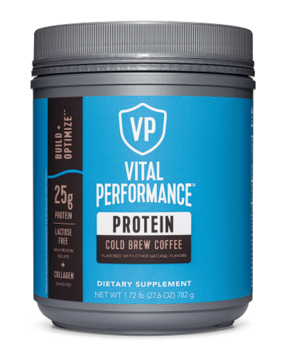 Vital Performance Cold Brew Coffee Protein Powder Perspective: front