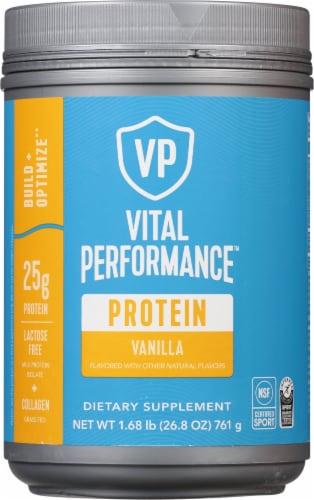 Vital Performance Vanilla Protein Powder Perspective: front