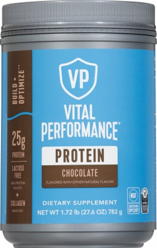 Vital Performance™ Chocolate Protein Powder Perspective: front
