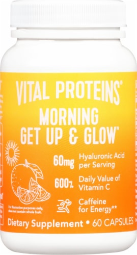 Vital Proteins Morning Get Up & Glow Supplement Capsules Perspective: front