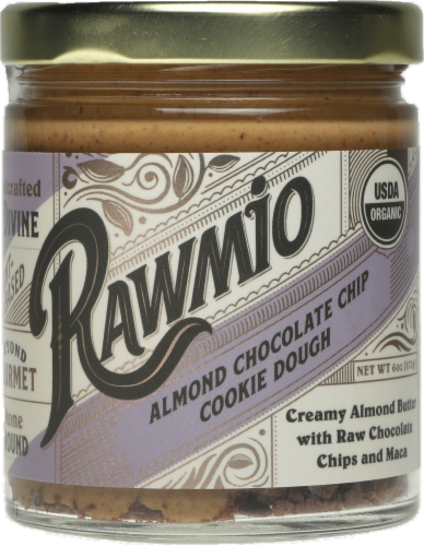Rawmio Creamy Almond Chocolate Chip Cookie Dough Spread Perspective: front