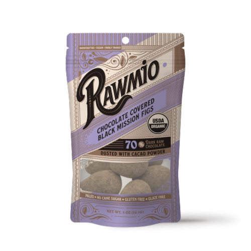 Rawmio Organic Chocolate Covered Figs Perspective: front