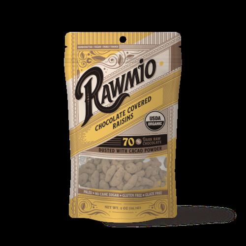 Rawmio Organic Chocolate Covered Golden Raisins Perspective: front