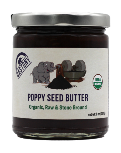 Dastony Organic Poppy Seed Butter Perspective: front