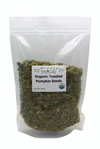 Raw Guru Organic Toasted Pumpkin Seeds Perspective: front