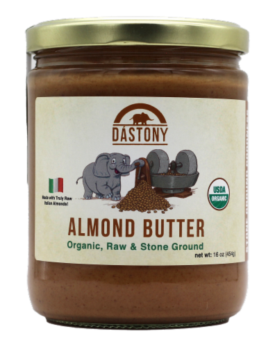 Dastony Organic Almond Butter Perspective: front