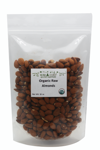 Raw Guru Organic Raw Almonds Perspective: front
