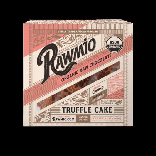 Rawmio Organic Raw Chocolate Mini Truffle Cake Perspective: front