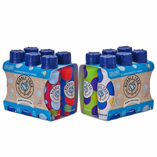 Bubble Tree Aluminum Bubble Bottle Multi-Packs - 12 Refillable Bottles Perspective: front