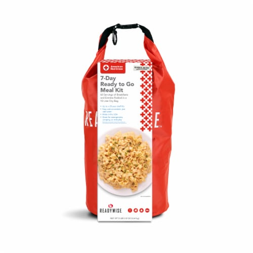 American Red Cross 7-Day Ready To Go Meal Kit Emergency Bag Perspective: front