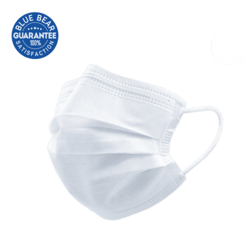 Blue Bear Triple-Ply Disposable Face Masks Perspective: front