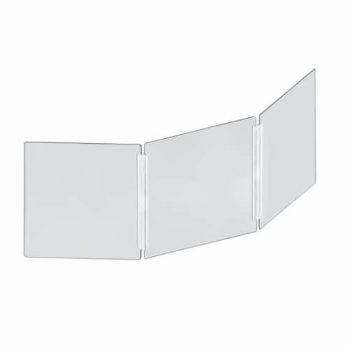 Azar Displays Acrylic Tri Fold Protective Shield - Clear Perspective: front