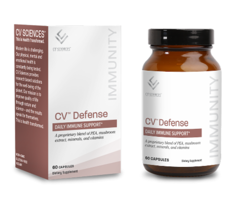 CV Sciences CV Defense Daily Immune Support Capsules Perspective: front
