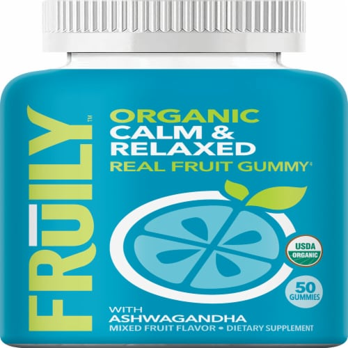 Fruily Organic Calm & Relaxed Gummies Perspective: front