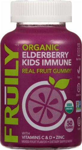 Fruily Organic Elderberry Kids Immune Gummies Perspective: front