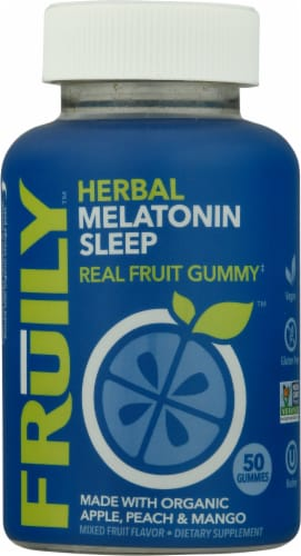 Fruily Organic Goodnight Sleep Gummies Perspective: front