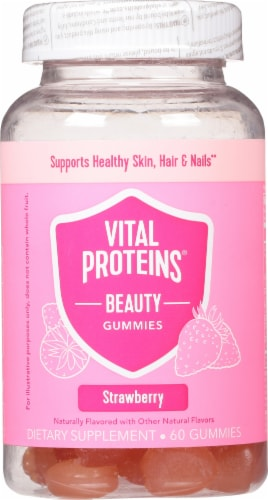 Vital Proteins Strawberry Beauty Gummies Perspective: front