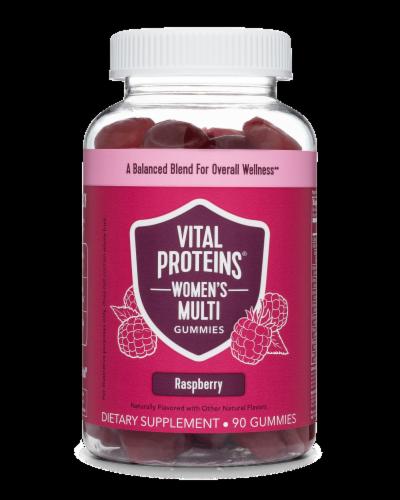 Vital Proteins Women's Raspberry Multi Gummies Perspective: front