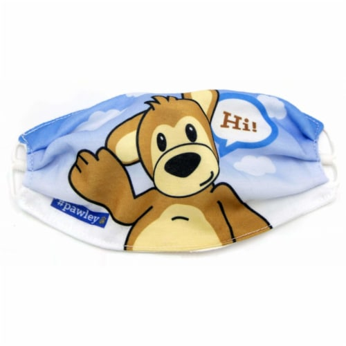 Plushible Teddy Bear Adjustable Cloth Face Masks for Kids and Young Adults Perspective: front