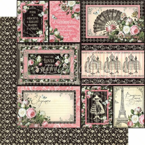 Elegance Double-Sided Cardstock 12 X12 -Irresistible Perspective: front