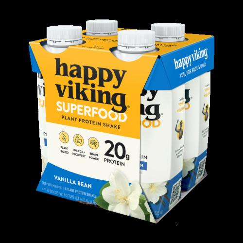 Happy Viking Vanilla Bean Plant Protein Shake Perspective: front