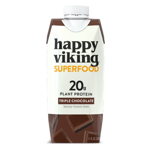 Happy Viking Triple Chocolate Plant Protein Shake Perspective: front