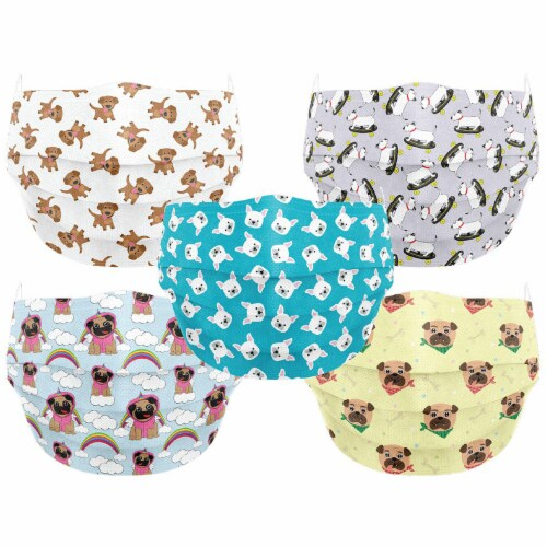 Co.Protect Premium Puppy 3-Layer Kids Disposable Face Masks Perspective: front