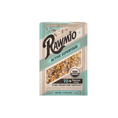 Rawmio Organic Active Superfood Raw Chocolate Bar Perspective: front