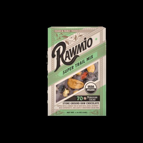 Rawmio Organic Trail Mix Raw Chocolate Bar Perspective: front