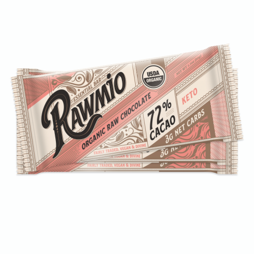Rawmio Essentials Dark Chocolate Bars Perspective: front
