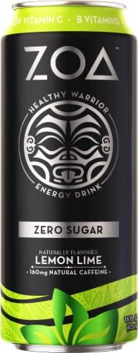 ZOA™ Zero Sugar Lemon Lime Energy Drink Perspective: front