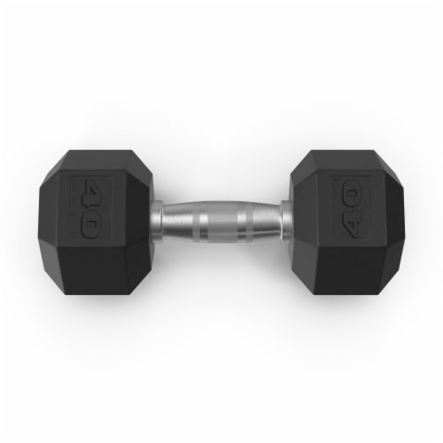 Tru Grit Hex Rubber Coated Dumbbell Perspective: front