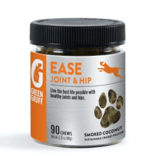 Green Gruff® Ease Smoked Coconut Joint & Hip Chews Perspective: front