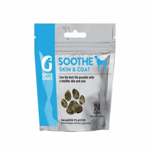 Green Gruff® Soothe Salmon Flavor Skin & Coat Chews Perspective: front