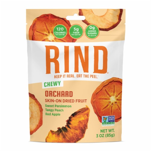 RIND Snacks Orchard Blend Dried Fruit Superfood - 3oz Bags, 6 Bags Total Perspective: front