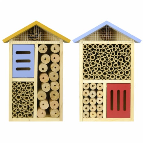 Nature's Way Better Gardens 12 in. H x 8 in. W x 3.5 in. L Wood Insect House - Case Of: 1; Perspective: front