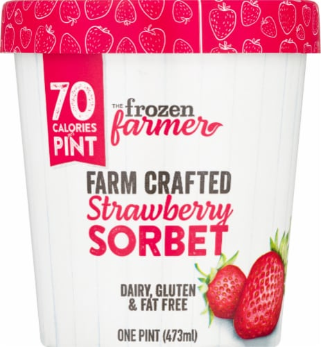The Frozen Farmer Strawberry Sorbet Frozen Dessert Perspective: front