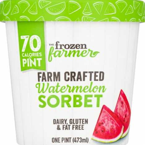The Frozen Farmer Watermelon Sorbet Ice Cream Perspective: front