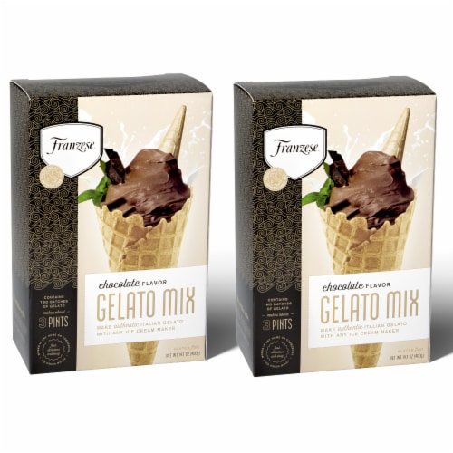 Chocolate Mix Gelato 2-Box Gift Pack (4 Packet) Perspective: front