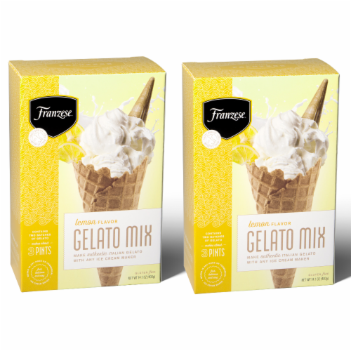 Lemon Gelato Mix 2-Box Gift Pack (4 Packet) Perspective: front
