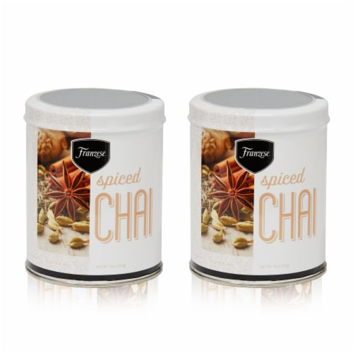 Spiced Chai Drink Mix 2- Tin Gift Pack (17.6oz) Perspective: front
