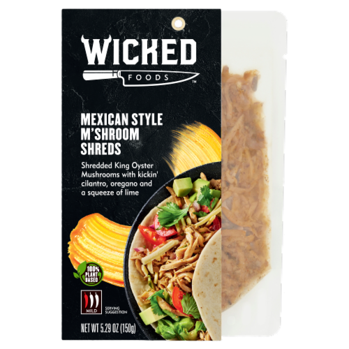 Wicked Foods Mexican Style M'Shroom Shreds Perspective: front