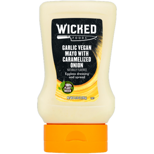 Wicked Foods Caramelized Onion Garlic Vegan Mayo Perspective: front