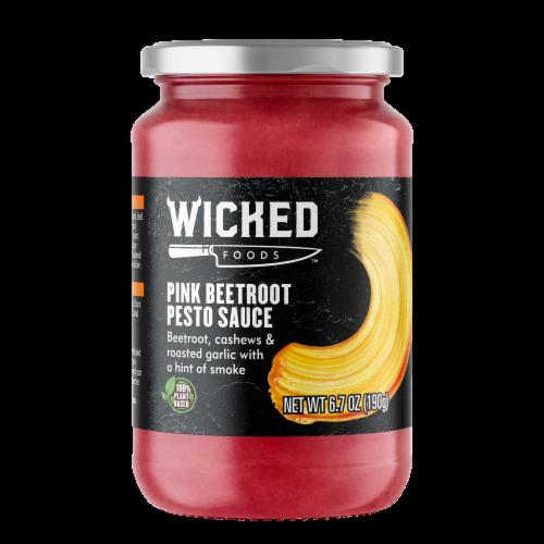 Wicked Foods Pink Beetroot Pesto Sauce Perspective: front