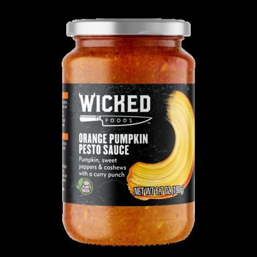 Wicked Foods Orange Pumpkin Pesto Sauce Perspective: front