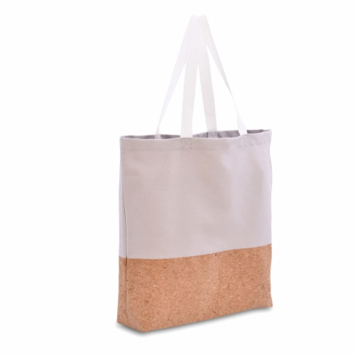 Cotton Tote Bag, Designer Grocery Bag, Trendy Reusable Shopping Bags, Eco Friendly Perspective: front