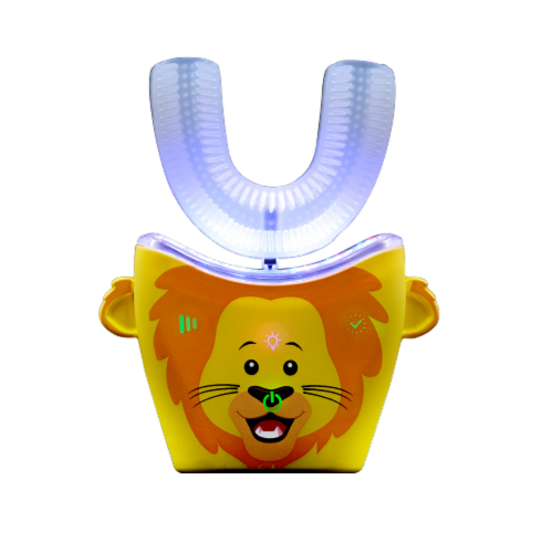 AutoBrush Kids Whole Mouth Electric Toothbrush and Training Brush (Ages 11+, Lion) Perspective: front