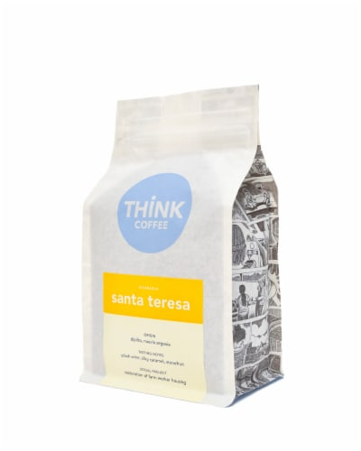 Nicaragua Santa Teresa Single Origin Ground Coffee Perspective: front